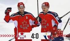 دوري الهوكي الروسي: فوز لسيسكا موسكو وجاره سبارتاك