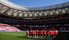 تدريبات اتلتيكو مدريد تشهد عودة رودريغو