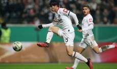 كأس المانيا : اينتراخت فرانكفورت يعبر للدور نصف النهائي بتخطيه فيردر بريمن