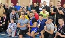بطولة لبنان للكونغ فو: أسلوب المصارعة الصينية  اللقب للجيش