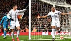احصاءات من مباراة مانشستر يونايتد-باريس سان جيرمان