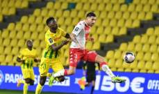 موناكو يحقق فوزاً صعباً خارج الديار امام نانت