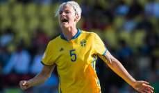 منتخب السويد للسيدات يطالب الجميع بالوحدة لمعالجة التمييز في كرة القدم