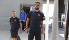 بيكيه خارج خدمة برشلونة امام فيسيل كوبي