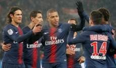 الليغ 1 : باريس سان جيرمان يذل غانغون بتسعة اهداف نظيفة