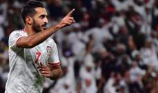رقم مييز للاعب علي مبخوت مع منتخب الامارات