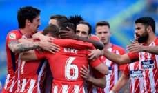 الليغا : اتلتيكو مدريد يعزز مركز الوصافة وانتصار مهم لفياريال وتعادل لاشبيلية