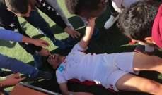 لاعب ينجو من الموت خلال دوري الناشئين في لبنان