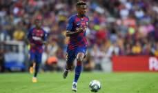 سيميدو يعزز أرقامه الشخصية مع برشلونة
