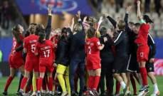 كندا تكتب التاريخ وتتأهل الى الدور الـ16 لبطولة كاس العالم للسيدات