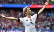 الاميركية ميغان رابينو تحرز الكرة الذهبية النسائية