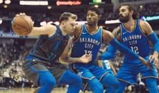 NBA: اوكلاهوما يعيد الوصافة للواريرز غربياً وتورنتو يعزز وصافته شرقياً