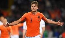 دي ليخت أفضل لاعب في الدوري الهولندي عن الموسم الماضي