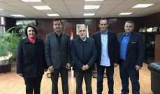 وفد اتحاد التنس زار الوزير فنيش وشكره على رعايته كأس ديفيس