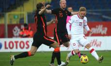 ارقام واحصاءات عن منتخبي بولندا وهولندا