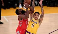 NBA: جيمس هاردن يبدع امام الليكرز والكليبرز يسقط امام السبيرز