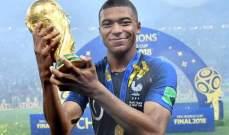 كيليان مبابي افضل لاعب فرنسي للعام 2018