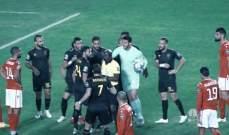 طرد لاعب الاهلي المصري يشعل اللقاء امام النجم الساحلي التونسي