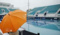 الأمطار توقف اللعب في بطولة ميامي المفتوحة