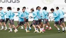 ريال مدريد يختتم استعداداته لمواجهة اوساسونا