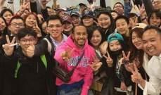 لويس هاميلتون مع جمهوره الصيني
