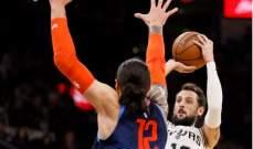 NBA: سبيرز يفوز على ثاندر في مباراة سُجل فيها 301 نقطة