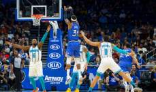 NBA: بليكانز يهزم ثاندر وماجيك يسحق هورنتس