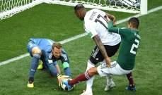 ابرز الاحصاءات بعد نهاية مباراة المكسيك والمانيا