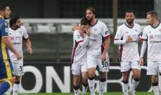 كالياري يجر فيرونا الى التعادل في الجولة العاشرة من الدوري الايطالي