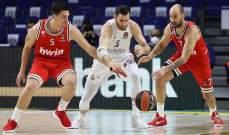 ابرز نتائج الدوري الاوروبي لكرة السلة