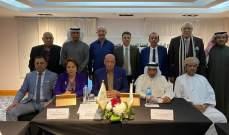 المهندس علي خليفة  شارك في اجتماعات الاتحاد العربي