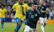 إحصائيات وأرقام عن مباراة الارجنتين والبرازيل الودية