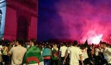 أعمال شغب في باريس بعد تأهل الجزائر