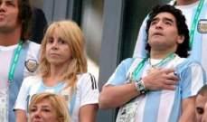 زوجة مارادونا السابقة تتهم محاميه بإختطافه قبل وفاته