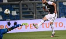 يوفنتوس يتعادل امام ساسولو روما وفيورنتينا يفوزان وتعادل للاتسيو في الكالتشيو