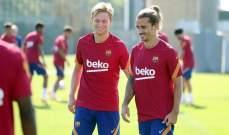 برشلونة يعود للتدريبات بعد رباعية فياريال