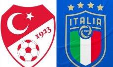 التشكيلات المتوقعة لمباراة تركيا وإيطاليا