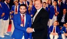 """علي رعد افضل حكم في بطولة  """"كأس الرئيس الاوروبية"""" بالتايكواندو"""