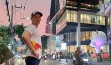 خورخي لورنزو يمضي عطلته في بانكوك