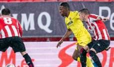 الدوري الإسباني: لقاء فياريال وبلباو ينتهي بالتعادل الإيجابي