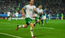 هدف الايرلندي روبي برادي في مرمى ايطاليا