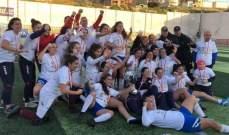 نادي نجوم الرياضى بطل لبنان لكرة القدم النسائية