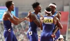 الفريق الأميركي يستعيد ذهبية 400 متر تتابع رجال