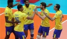 بطولة العالم لكرة الطائرة : البرازيل تتخطى مصر وفوزان لروسيا وسلوفينيا