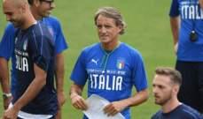 ليبي يشيد بعمل مانشيني مع منتخب إيطاليا