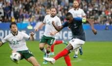 احصاءات مباراة فرنسا وايرلندا وتوليسو افضل لاعب في منتخب الديوك