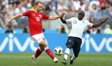 كانتي أفضل لاعب في مباراة فرنسا والدنمارك