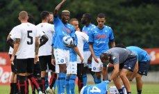 اصابة قوية للاعب نادي نابولي