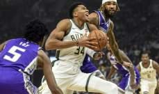 NBA: ميلووكي يعود الى سكة الانتصارات وتورنتو يعزز صدارته شرقياً