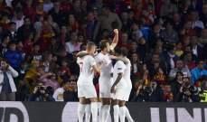 ساوثغايت سعيد بالفوز على اسبانيا